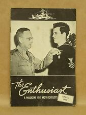 Vintage Harley Davidson Enthusiast Magazine April 1944 Motorcycle Military