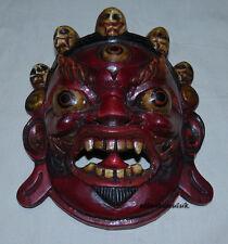 M45 Hand Crafted Protector Mahakala Bhairav Wall Hanging Gift WOODEN MASK NEPAL