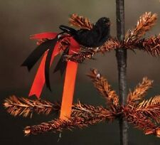 "Bethany Lowe ""Halloween Ribbon Clip-on Bird"" (Black body)"