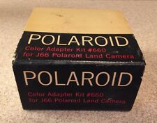 Vintage Polaroid Color Adapter Kit #660 for J66 Land Camera Box Paperwork