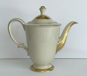 Vintage German Bavaria Tirschenreuth Gold Encrusted Large 6-Cup Coffee Pot