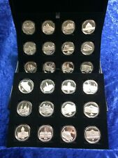 Australian 175 Years of Melbourne Set of 24 Commeratives Boxed & Certificates