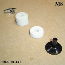 Cymbal Mounting Kit - With Felts, Plastic Sleeve & Wing Nut M8 (8mm) 002-101-141