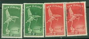 New Zealand. Health.1947. Sets of 2. U & MH.