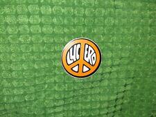 Lucero Peace Vintage Skateboard Sticker Orange