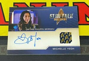Star Trek Discovery Season 2 Michelle Yeoh Costume Relic Autograph!