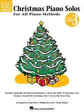 CHRISTMAS PIANO SOLOS FOR ALL PIANO METHODS-LEVEL 3 MUSIC BOOK BRAND NEW ON SALE