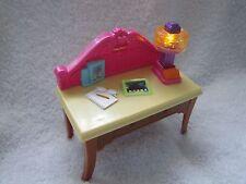 New! Fisher Price Loving Family Dollhouse DESK for HOME OFFICE w/ LIGHT UP LAMP