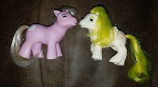 2 Vintage My Little pony Lot H G1 tiddlywink and lofty beddy bye eye baby bbe