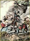Currier & Ives: Death of Tecumseh, Battle of The Thames  Art Print