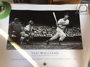 1992 Upper Deck Ted Williams Red Sox Triple Crown Lithograph Photo 9075/12,000