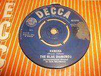 "BLUE DIAMONDS "" RAMONA "" 7"" SINGLE 1960 DECCA EXCELLENT-"