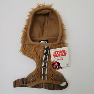 Star Wars Chewbacca Dog Hoodie Costume Size XS Harness Petco Wookie Brown