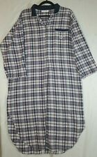 Vintage Christian Dior Long Night Shirt Plaid Flannel Sleeping Gown
