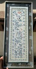 Estate House Chinese Antique Qin Dynasty Framed Silk Embroidery With Certificate