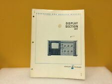 Hp / Agilent 00141-90912 141T Display Section Operating + Service Manual