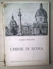 Carlo Viglino churches of Rome 1957 drawing