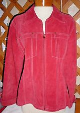 COLDWATER CREEK JACKET~Burnt Orange  Or Salmon~Zip Up Front~Leather~Miss Plus 1X