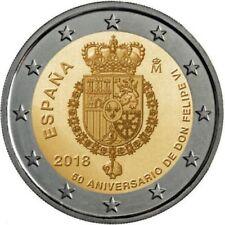 2018-2€ ESPAÑA-SPAIN-SPANIEN- 50 ANIVERSARIO FELIPE VI