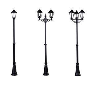 2.5m Victorian Outside Garden Patio Pathway Street Light Lamp Post Black Lights