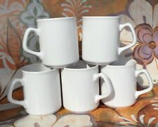 Set of 5 NEW WHITE MUGS for tea coffee SPARTA MUG CUP