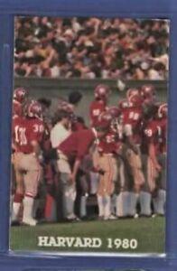 NCAA FOOTBALL 1980 HARVARD pocket schedule