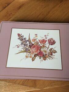 Table Place Mats Bundle 9 Pretty  Pastel Pink Flowers Size 12inchx 9inch