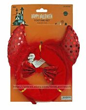 MOMENTUM BRANDS 3pc RED DEVIL Costume Set HAPPY HALLOWEEN Headband+Tail+Bow OSFM