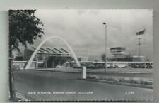 MAIN ENTRANCE AND CONTROL TOWER RENFREW AIRPORT SCOTLAND c1960