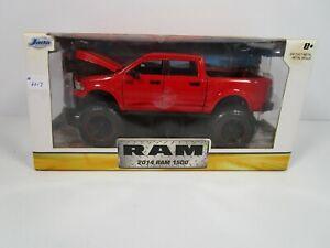 JADA 1/24 *RARE OFF-ROAD EDITION* RED 2014 DODGE RAM 1500 4X4 *BOX ISSUE*