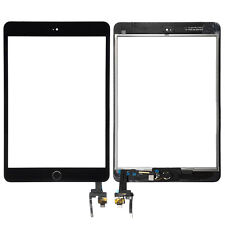 Black For Apple iPad Mini 3 3rd Outer Touch Screen Digitizer Glass +IC+Home Flex