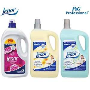 Lenor Professional Concentrate Fabric Conditioner Softener 3.8L / 5L 190 Washes