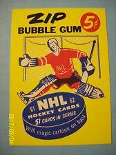"""1993-94 Parkhurst (1961-62 Gum Wrapper Reproduction) """"Parkie,s Checklist"""" # 5"""