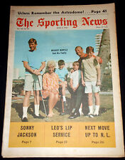 April 6. 1968 The Sporting News MICKEY MANTLE & Family on cover   (au)