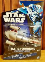 Star Wars Transformers Crossovers Captain Rex to Freeco Speeder 2010 MOSC