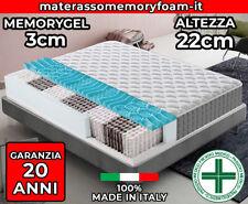 MATERASSO A MOLLE INSACCHETTATE SENSATION MATRIMONIALE 180X200 H 24 CM MOLLE INDIPENDENTI ORTOPEDICO ESTATE INVERNO