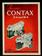 3 VINTAGE REPRO CONTAX ADVERTISING REPRODUCTION POSTCARD