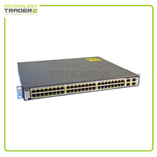 WS-C3750G-48TS-S V06 Cisco Catalyst 3750G 48-Port Switch * Pulled *