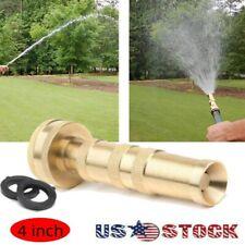 4'' High Pressure Hose Spray Gun Brass Head Garden Water Nozzle Adjustable Jet