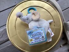 WEBKINZ KINZ KLIP Velvety Elephant Plush Clip