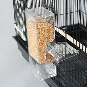 Mess Free Acrylic Auto Bird Cage Feeder Cup for Parrot Canary Finch Cockatiel