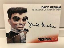 FireBall XL5 David Graham autograph card Unstoppable