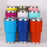 US New 30oz Stainless Steel Vacuum Tumbler Insulated Travel Coffee Mug Cup Flask