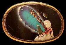 MJ10179 ROUGH VINTAGE 1977 PACIFICA **LED ZEPPELIN** ROCK MUSIC BAND BUCKLE