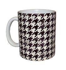Coffee Tea Mug Cup - Antiqued Houndstooth Decorative Graphic Trendy 11 oz