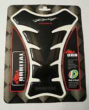 "ORBITAL TANK PROTECTOR GEL PAD - HONDA RACING - BLACK/SILVER STRIPES 5.6"" x 7.5"""