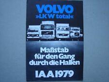 VOLVO LKW's auf der IAA Prospekt/brochure (D), 1979.