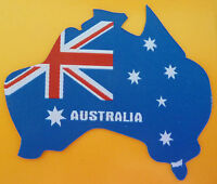 Iron On AUSTRALIAN FLAG PATCH Australia MAP OUTLINE NEW