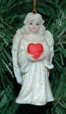 Snow White Angel  Christmas Ornament (Heart)