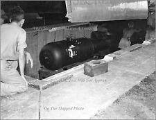 Photo: Atomic Bomb Little Boy Under B-29 Superfortress Enola Gay, 1945